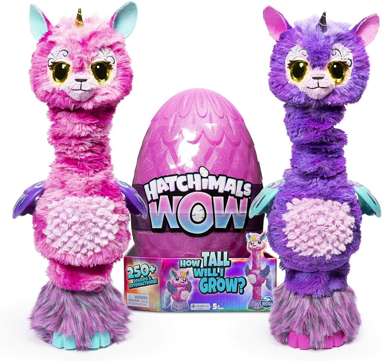 "Интерактивное яйцо Хетчималс Ламарог 81 см Единорог Лама Hatchimals Wow Llalacorn 32"" Tall Interactive"