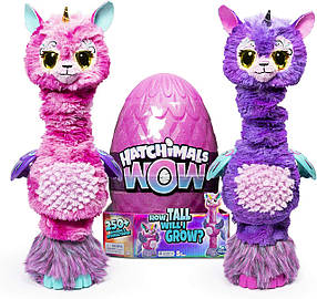 "Интерактивное яйцо Хетчималс Ламарог 81 см Единорог Лама Hatchimals Wow Llalacorn 32"" Tall Interactive"