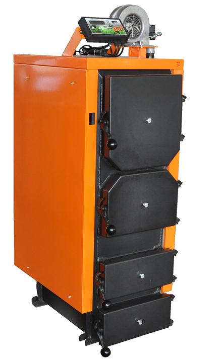 Стальной котел на дровах ДТМ 40 Т мощностью 40 кВт