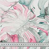 Штори в Дитячу кімнату MacroHorizon Монстера Рожево-сірий (MG-DET-160962), 170*135 см, фото 3