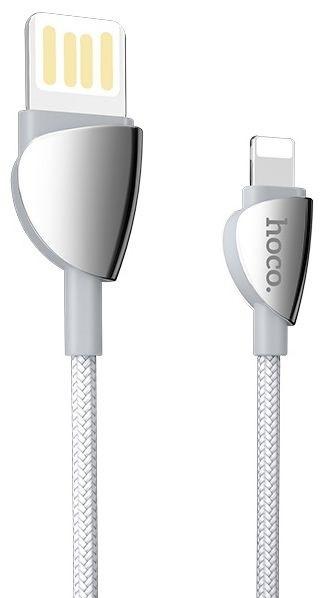 Кабель синхронізації HOCO U62 Simple Charging Cable Lightning 2.4 A 1.2 m Silver
