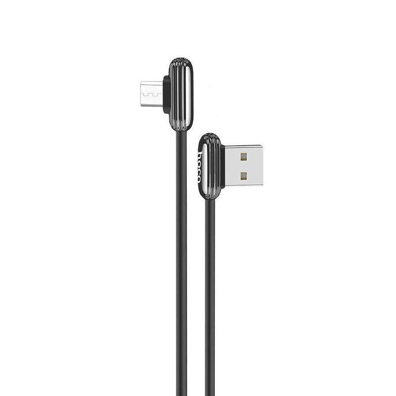 Кабель синхронизации HOCO U60 Soul Secret for MicroUSB 2.4A 1.2m Metal Gray