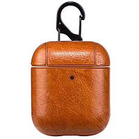 Кожаный футляр Leather series для наушников AirPods