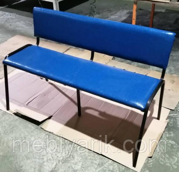 Лавка с мягкой спинкой и сиденьем