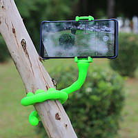 Селфиножка держатель для телефона универсальная подставка для смартфона салатовая Код МН-25