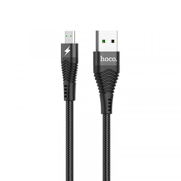 Кабель синхронизации HOCO U53 Flash MicroUSB 4A 1.2m Black