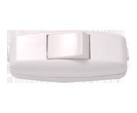 Выключатель EL-BI навесной белый c белой кнопкой 6А 250В