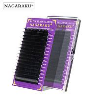 """Чёрные ресницы """"NAGARAKU"""", отдельные длины"""