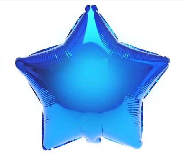 """Фольгована кулька зірка синій 18"""" Китай"""