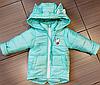 Весенние курточки для девочек с отстежными рукавами размеры 80-134, фото 5