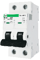 """Модульний автоматичний вимикач FB2-63 STANDART 6kА    """"С""""  2P  6А"""
