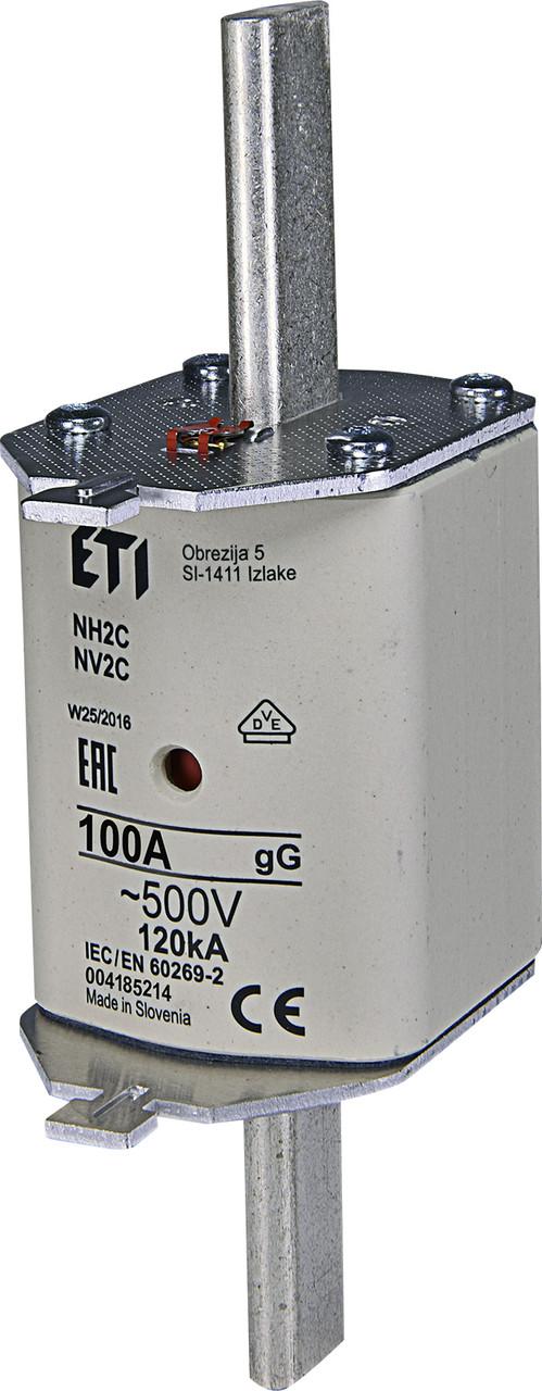 Предохранитель ETI NH-2C gL/gG 100A 500V KOMBI 120kA 4185214 ножевой универсальный