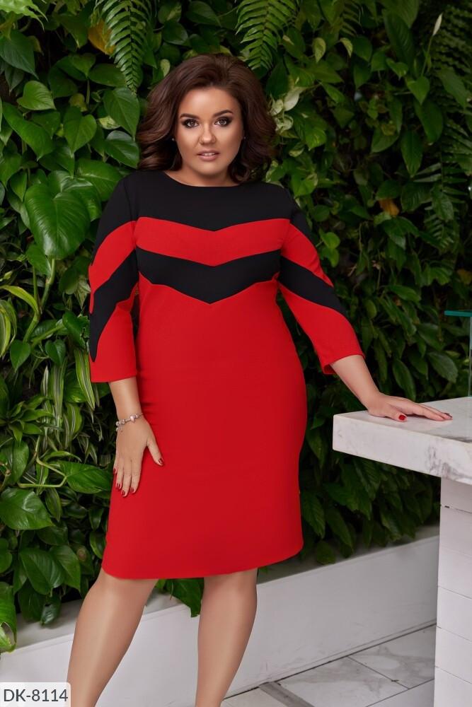 Стильное платье   (размеры 50-60) 0232-90