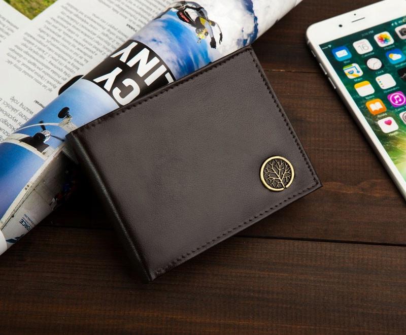 Чоловічий шкіряний гаманець Betlewski з RFID 12 х 9,2 х 3 (BPM-BF-61) - коричневий