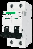 """Модульний автоматичний вимикач FB2-63 STANDART 6kА    """"D""""  2P  6А"""