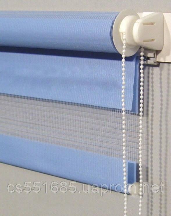 MSZ-022 Небесно голубая (0,425 х 1,70 м) Zebra (Зебра)  - Тканевые ролеты Oasis (Оазис)