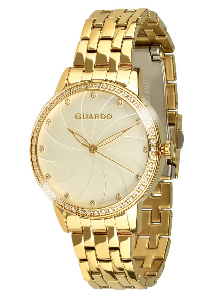 Часы женские Guardo 011461(1)-4 золотистые