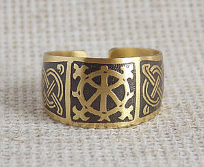 Кольцо латунное славянское