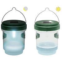 Лампа ловушка для мух, ос, комаров, мотыльков 2 в 1