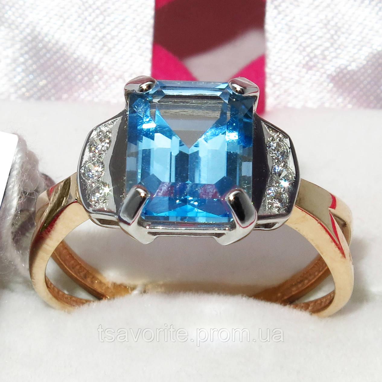 Золотое кольцо с топазом НХК-50