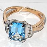 Золотое кольцо с топазом НХК-50, фото 2