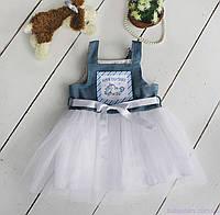 "Джинсовый сарафан ""Дакота"" от 1 до 2 лет, один размер (86-98), фото 1"