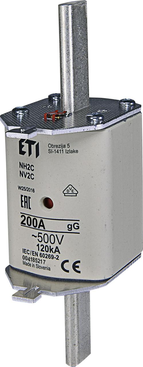 Предохранитель ETI NH-2C gL/gG 200A 500V KOMBI 120kA 4185217 ножевой универсальный