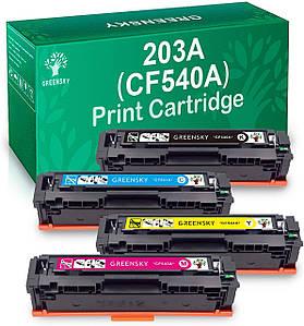 Тонер картридж - GREENSKY для HP 203A CF540A CF541A 203X CF542A CF543A CF540A