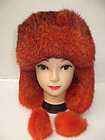 Зимняя шапка ушанка женская (мех кролика)