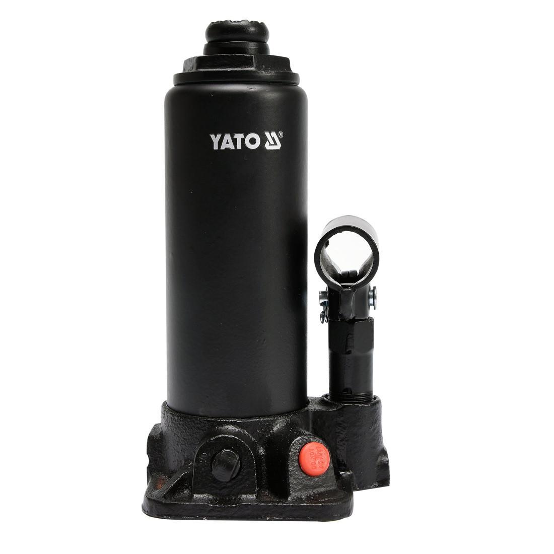 Домкрат гидравлический бутылочный 3т 194-374мм YATO YT-17001
