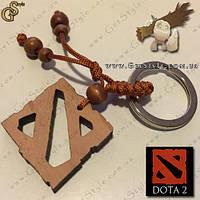 Деревянный брелок-логотип Dota 2 + подарочная упаковка!