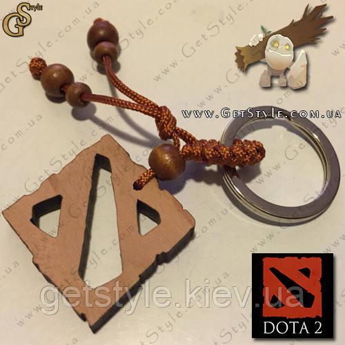 деревянный брелок логотип Dota 2 подарочная упаковка