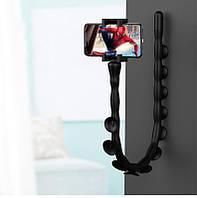 Селфиножка держатель для телефона универсальная подставка для смартфона черная Код МН-20