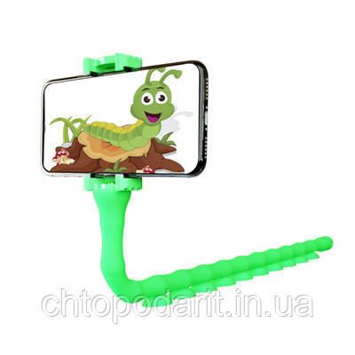 Селфиножка держатель для телефона универсальная подставка для смартфона салатовая Код МН-53