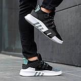 Мужские кроссовки в стиле Adidas Equipment Basketball ADV (black/white), адидас еквипмент (Реплика ААА), фото 3