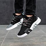 Мужские кроссовки в стиле Adidas Equipment Basketball ADV (black/white), адидас еквипмент (Реплика ААА), фото 4