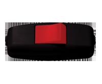 Выключатель EL-BI навесной черный с красной кнопкой 6А 250В