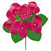 Букет искусственных цветов Фиалка цветная бордюр , 20 см
