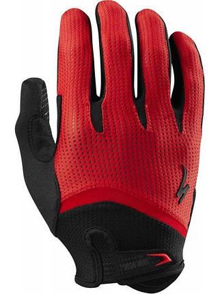Велоперчатки спортивные с длинными пальцами Wiretap Glove L Black/Red, фото 2