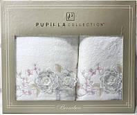 Набор полотенец Pupilla Roselinda Bambuk лицевое 50х90см и банное 70х140см, белый