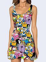 Женское 3D  Платье Adventure Time with Finn and Jake