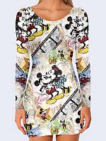 Женское 3D  Платье Mickey and Minnie