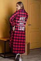 Женское длинное платье-рубашка свободного кроя 42-46 р, фото 3