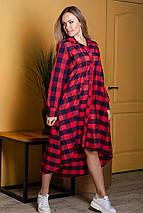 Женское длинное платье-рубашка свободного кроя 42-46 р, фото 2