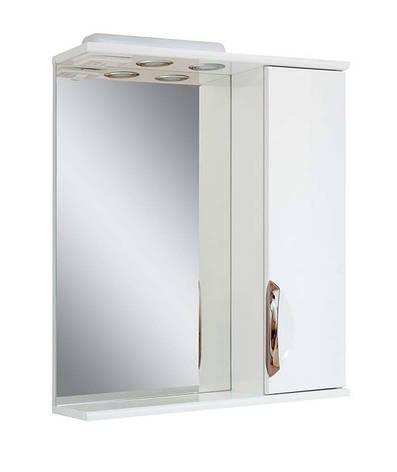 Зеркало для ванной комнаты Альвеус 55-01 Врезная ручка правое ПИК, фото 2