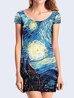 Женское 3D  Платье Starry Night