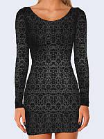 Женское 3D  Платье Винтажный узор