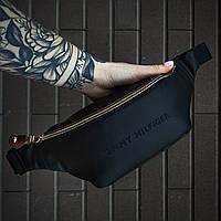 Бананка кожаная Tommy Hilfiger X black сумка через плечо мужская / женская, фото 1