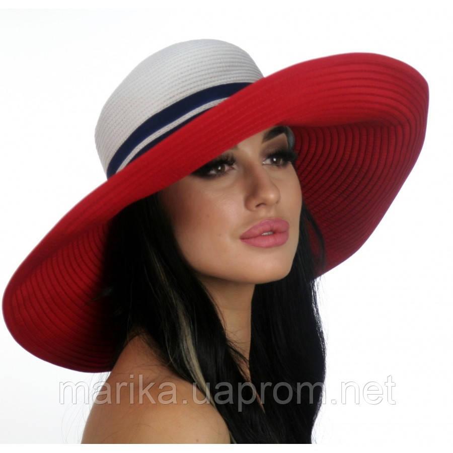 Шляпа с широкими полями двухцветная 1