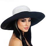 Шляпа с широкими полями двухцветная 1, фото 2